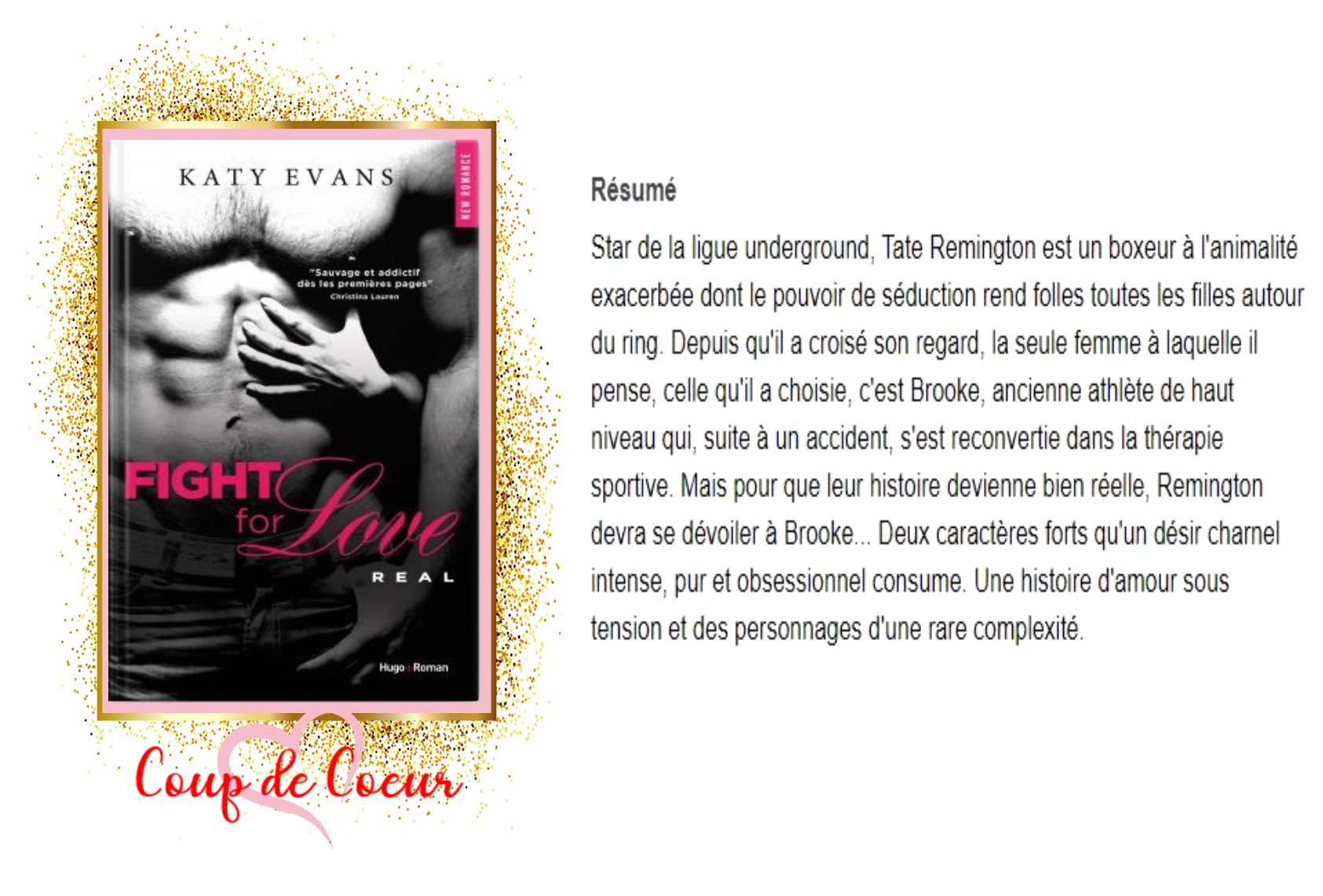 Fight for love , tome 1 real Avis