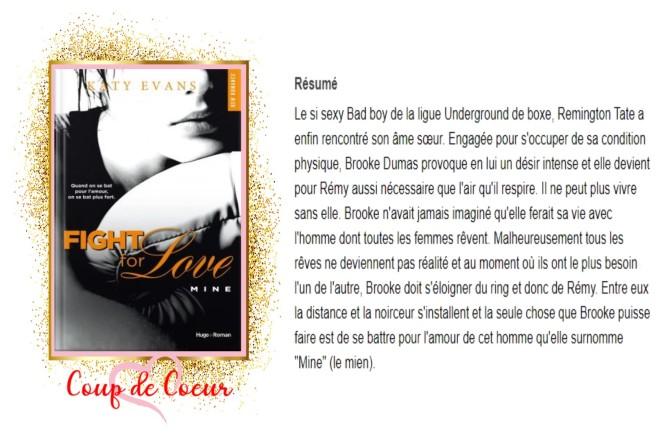 Fight for love , tome 2 Mine avis