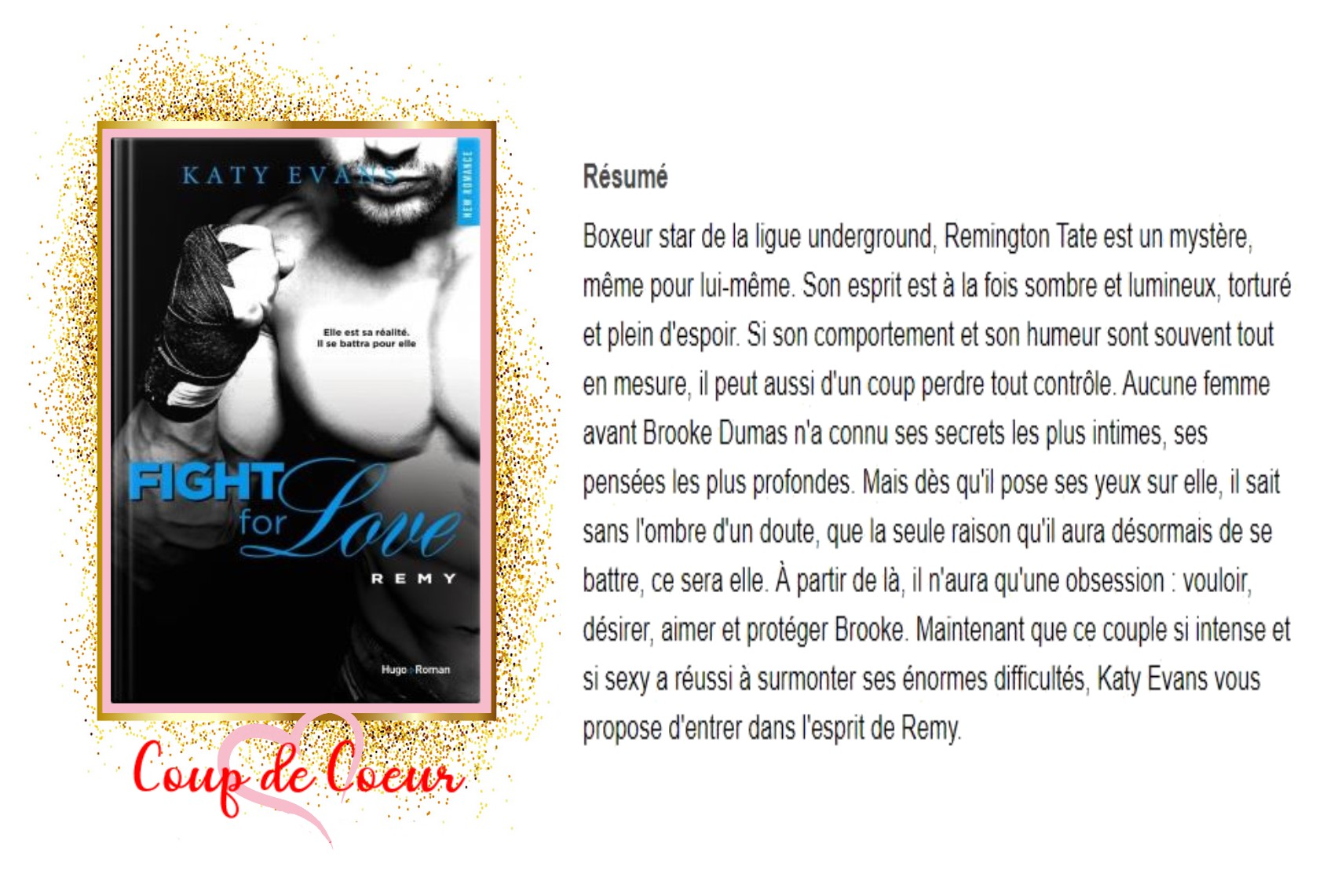 Fight for love , tome 3 remy avis