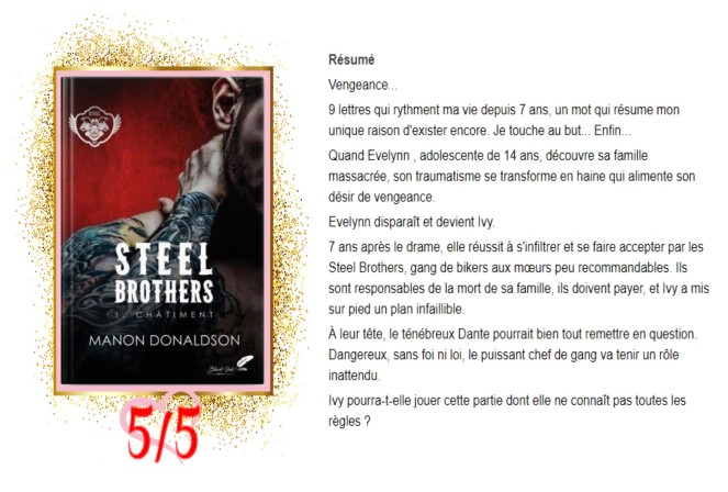 Steel Brothers, tome 1 Châtiment avis