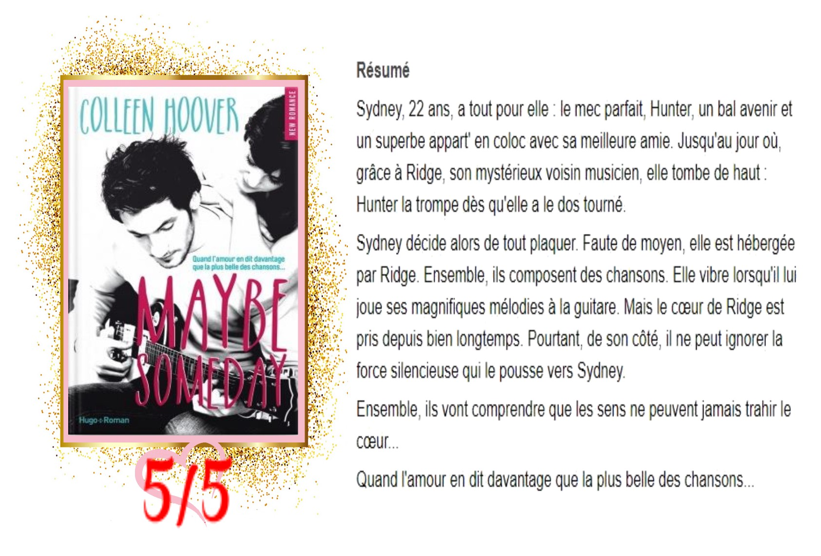 Maybe , Tome 1 Maybe Someday avis