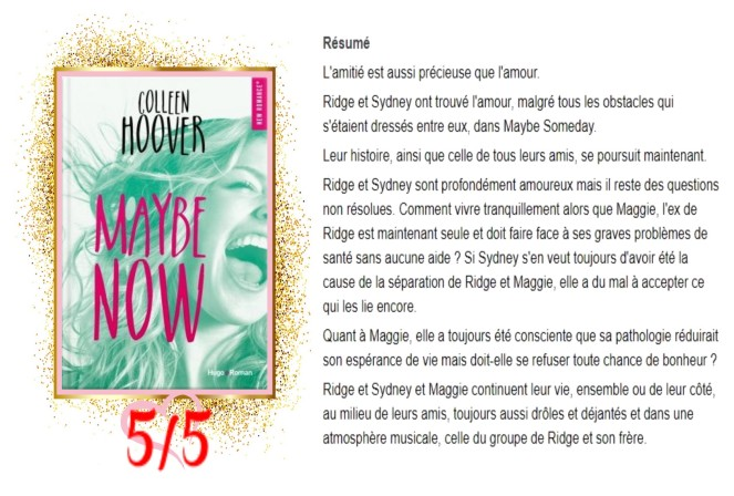Maybe, Tome 2 Maybe Now avis