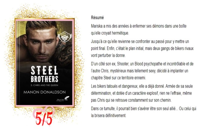 Steel Brothers, tome 3 Chris and the Queen avis